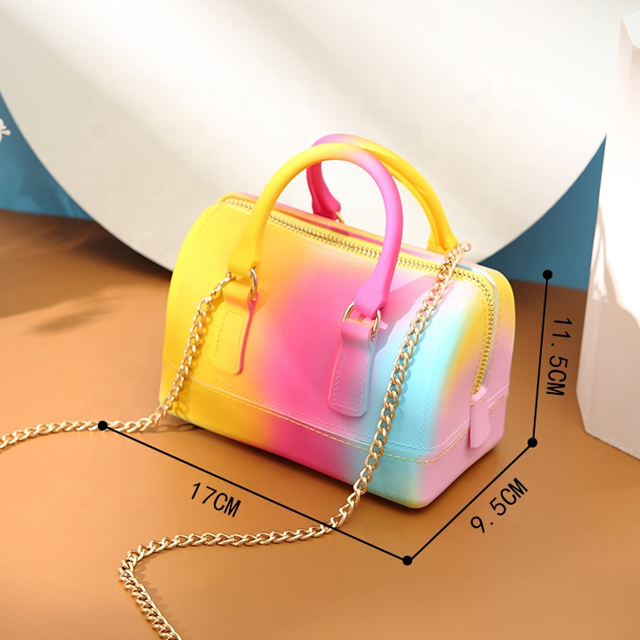 2020 New fashion ladies jelly beach handbag waterproof latest style purses hand bags for women