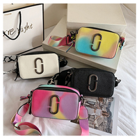 Fashion rainbow chain bags lady colorful handbags jelly purse handbags for women