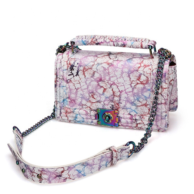 Hot sale ladies crossbody channel hand bags luxury leather graffiti purses handbags for women 2020