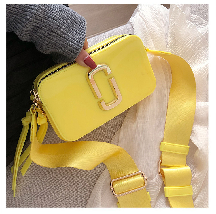 Fashion rainbow chain bags lady colorful jelly purse handbags for women